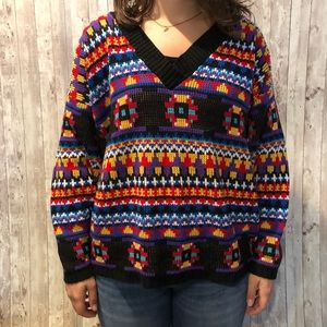 Vintage oversized colorful sweater